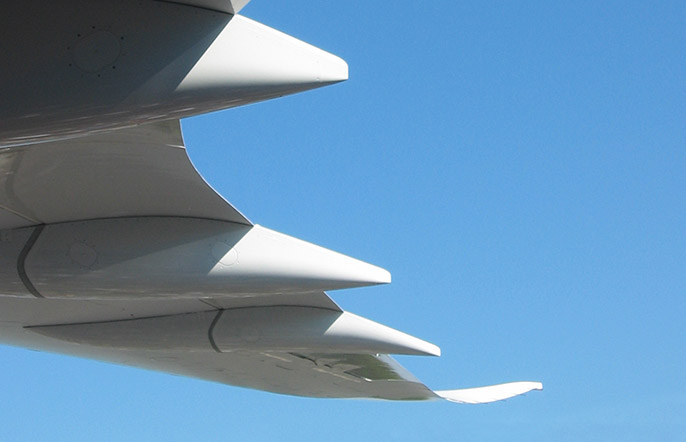 aerospace turbine detail of wing